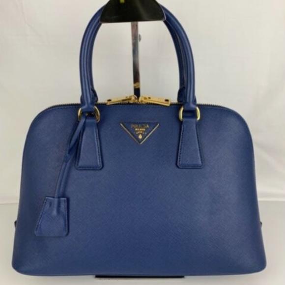 b0212deffd54 Prada Bags   New Saffiano Lux Blue Satchel   Poshmark